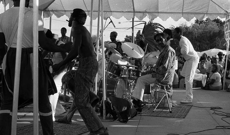Philly Joe Jones -- Watts Towers Festival of the Drum -- September 23, 1984 -- photo by Mark Weber