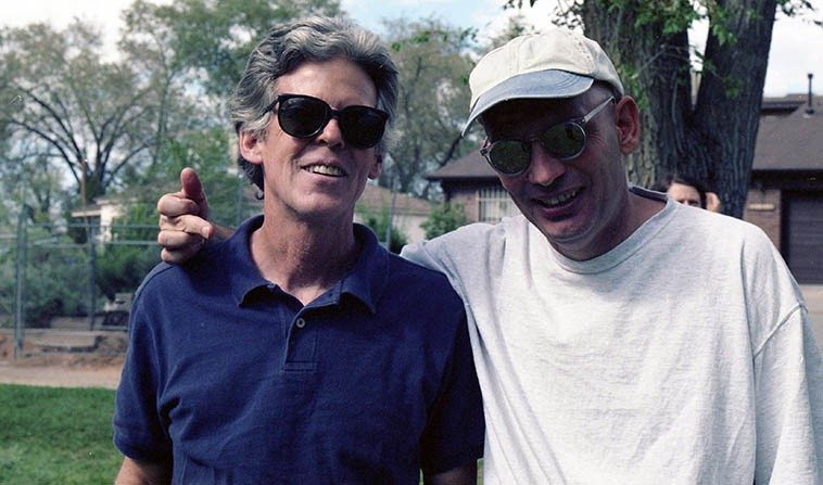 Two musicians: Jonathan Baldwin and Tim Zannes -- September 14, 1997 Albuquerque -- photo by Mark Weber