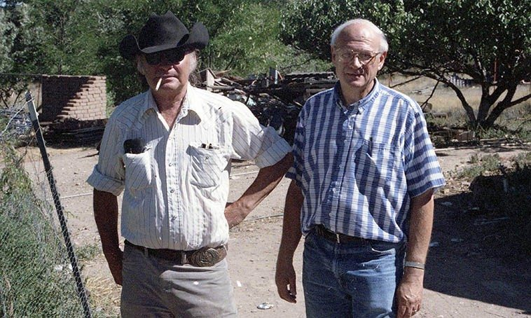 Kell Robertson & Todd Moore -- Dome Valley, Placitas, New Mexico -- July 19, 1994 -- photo by Mark Weber