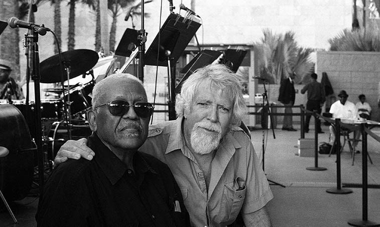Bobby Bradford & Mark Weber photo by Steve Isoardi -- August 14, 2o15 -- LACMA