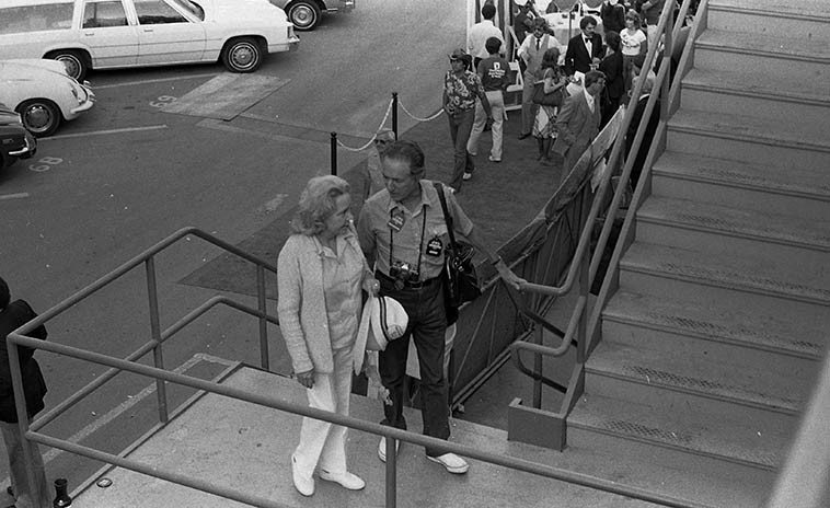 Leonard Feather and his wife Jane at Hollywood Bowl Playboy Jazz Festival -- June 21, 1980 -- photo by Mark Weber