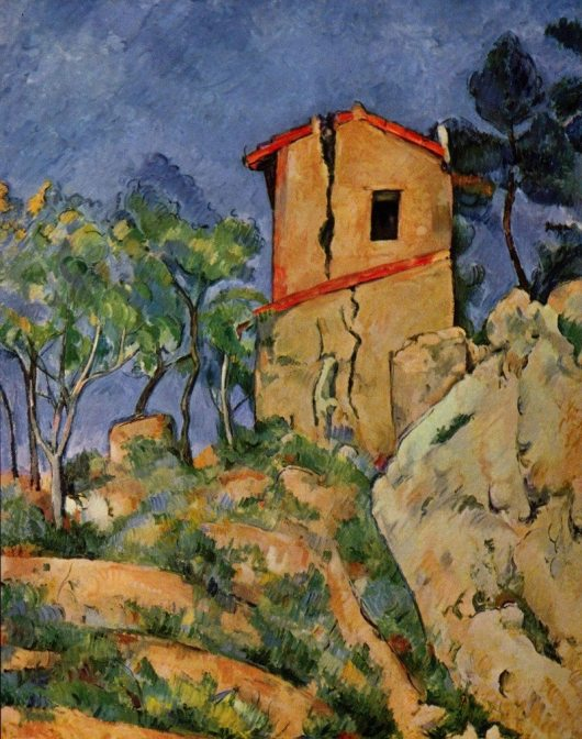 Paul Cézanne | The house with cracked walls | 1892-1894