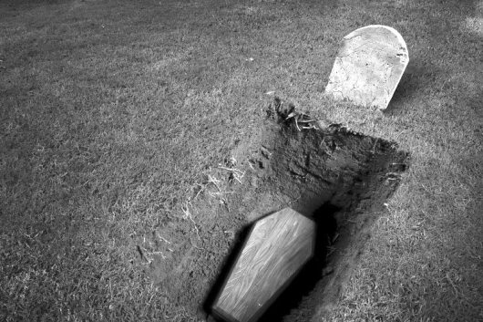 coffin-in-ground