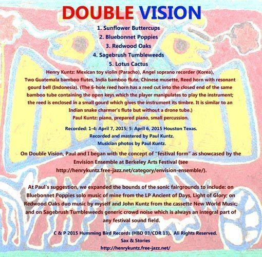 Henry Kuntz & Paul V. Kuntz | DOUBLE VISION | HBD 03/CDR 13