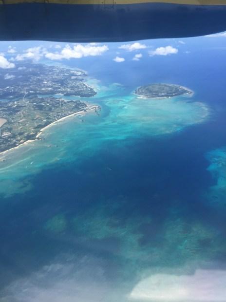 与論島上空写真
