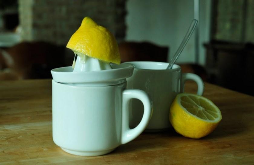 eine gepresste Zitrone fotografiert von Lando Jansone