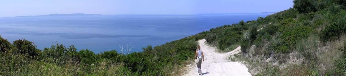 Weg zum antiken Elea, Epirus, Griechenland