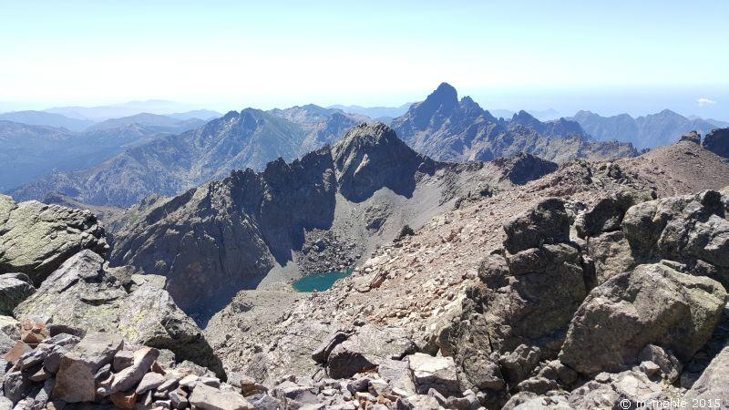 Lac du Monte Cinto von oben aus gesehen