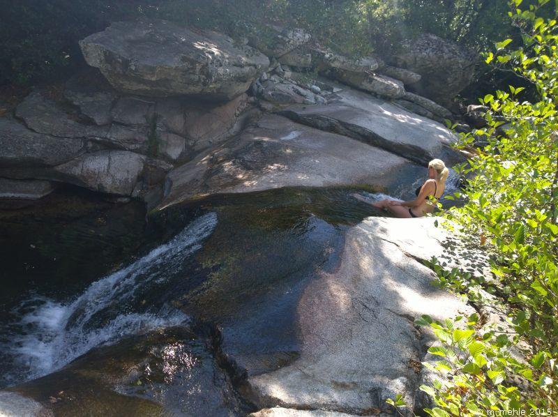 Badenixe an einem Bach unterhalb des Monte Cinto