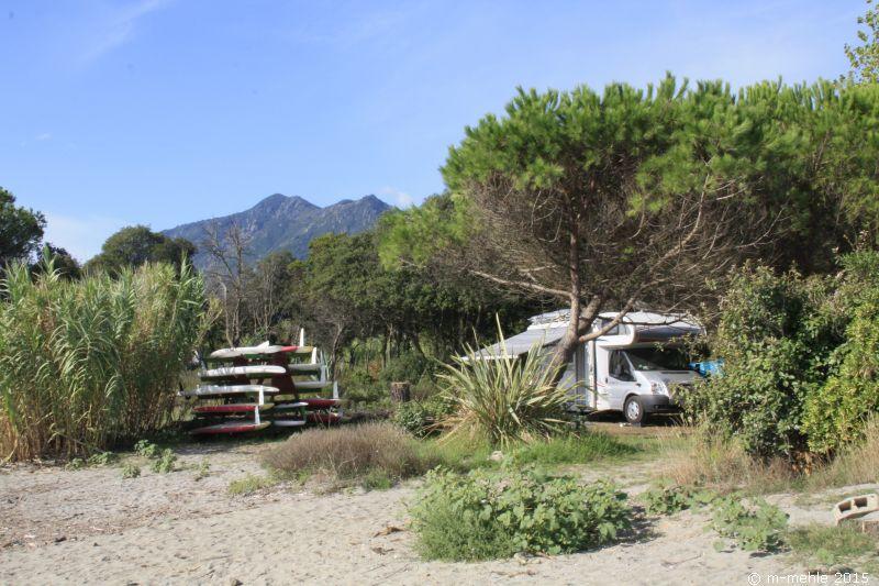 Wohnmobilstellplatz am Strand Camping U Ponticcu