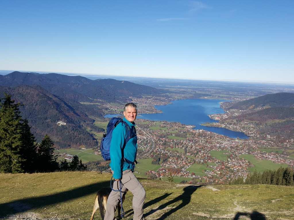 Blick vom Wallberg zum Tegernsee