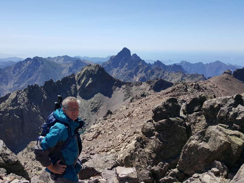 Blick vom Gipfel des Monte Cinto