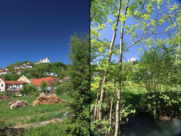 Bild zeigt die Ortschaft Eggloffstein mit Burg