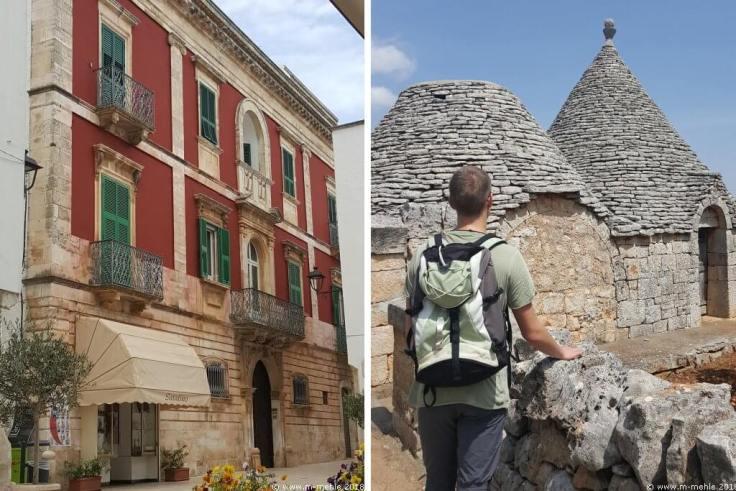 Haus in Locorotondo und Trullo auf dem Land