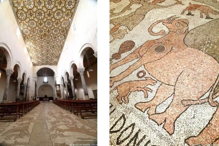 Hauptschiff und Mosaik der Kathedrale Santa Annunziata