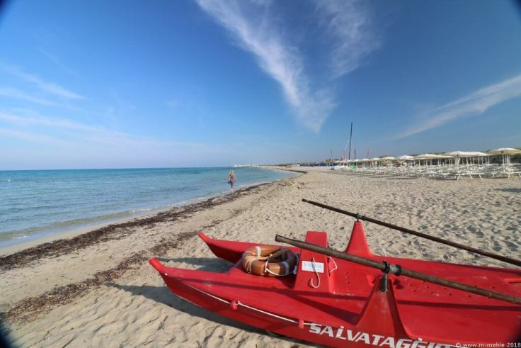 Süditalien , Strand bei Riva di Ugento