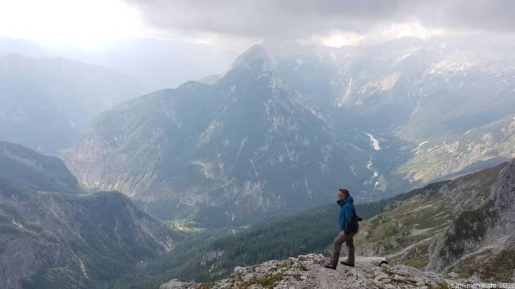 Rückweg vom Prisojnik, Slowenien