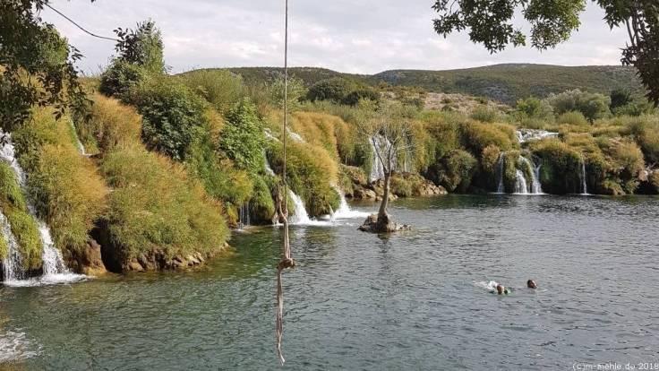 Wasserfälle an der Zrmanja, Kroatien