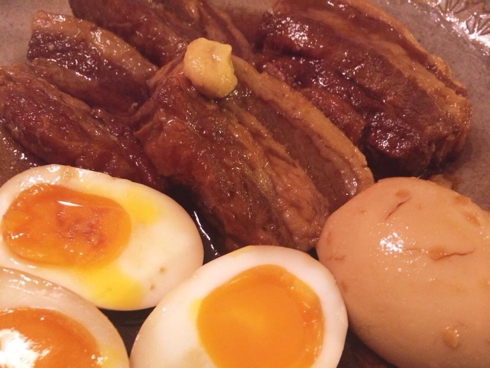 おやじが作る 超かんたん豚の角煮(半熟煮卵入り)