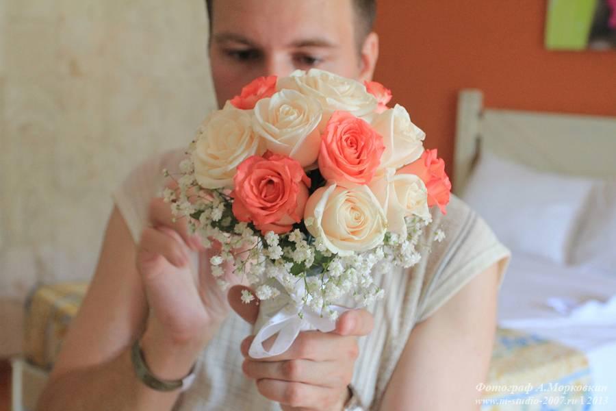 Акции букет невесты из живых цветов своими руками