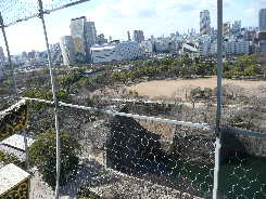 大阪城天守閣の眺望