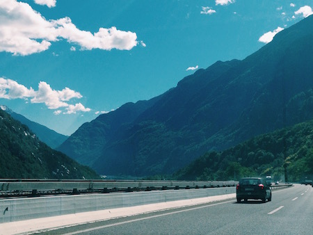 switzerland alps highway