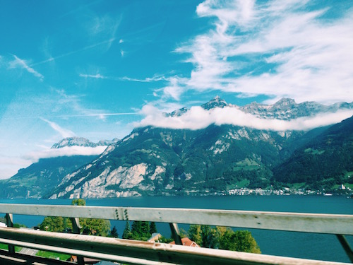 blue skies highway switzerland