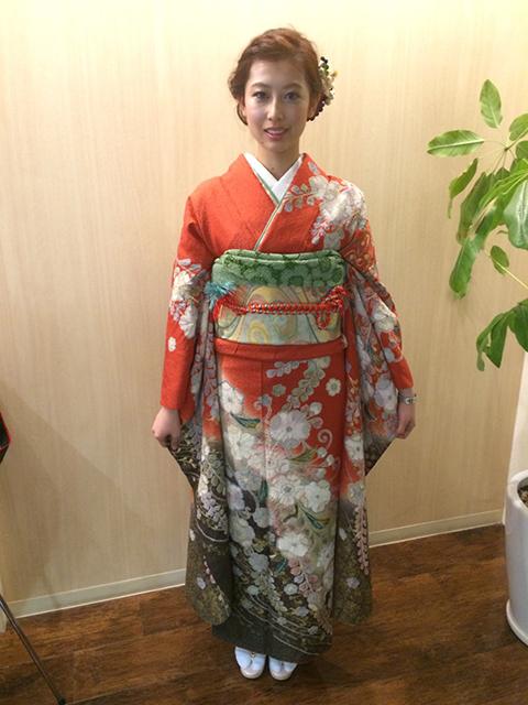 姫路での成人式着付け1