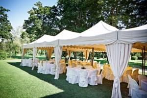 tonnelle de cérémonie - mariage - Traiteur - en exterieur