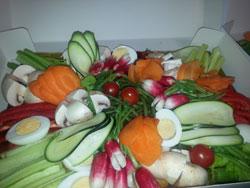 plateau provençal de légumes taillés