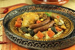 couscous agneau poulet merguez légumes et semoule oriental