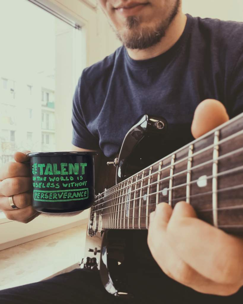 """MondayMugQuote """"All the talent in the world is useless without perseverance"""""""