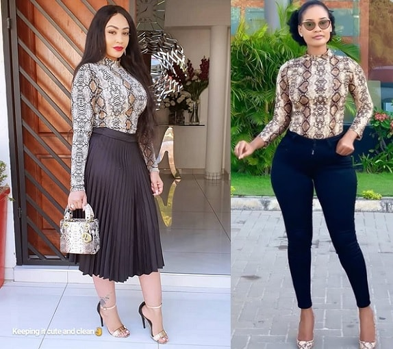 Zari and Hamisa Mobetto in the same outfits