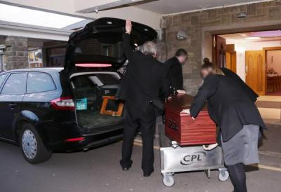 The funeral of child killing paedophile Robert Black at Roselawn Crematorium last Friday