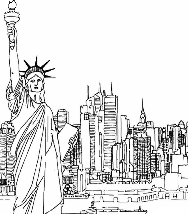 new york coloring pages # 5