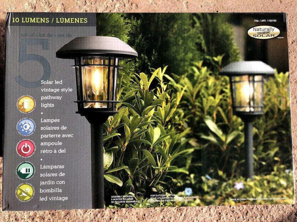costco pathway solar landscape light