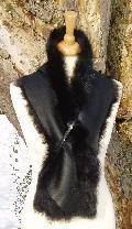 Black Toscana Shearling Scarf