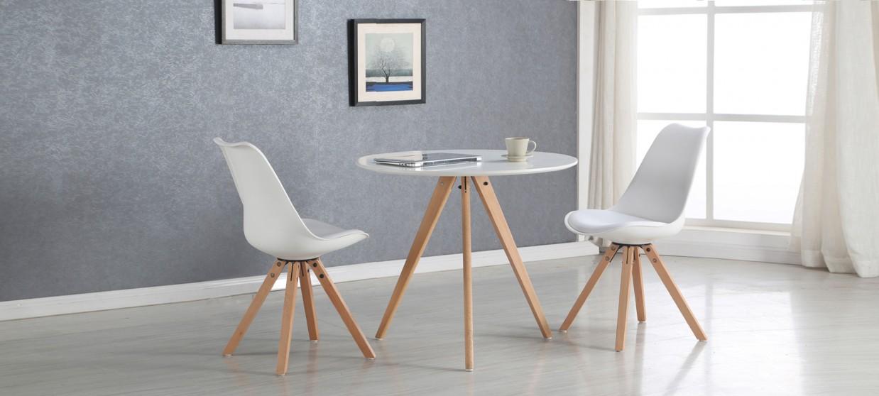table a manger scandinave blanche 100cm oslo