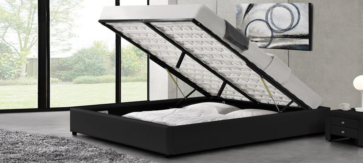 lit design avec coffre de rangement et sommier eveil