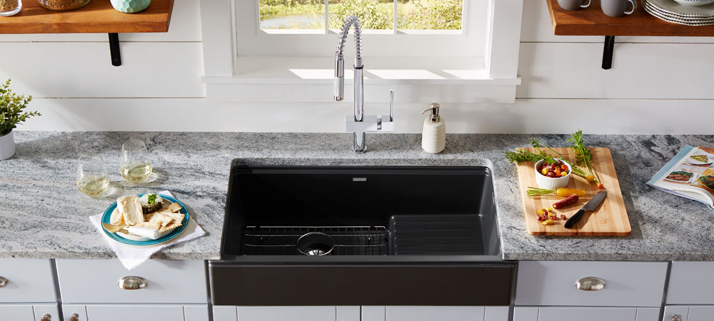 elkay quartz luxe farmhouse sink at