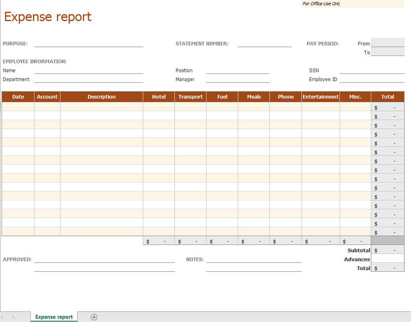 29/05/2017· an expense report can be a monthly report, a quarterly report, or even a yearly report. How To Create An Expense Report Templates The Blueprint