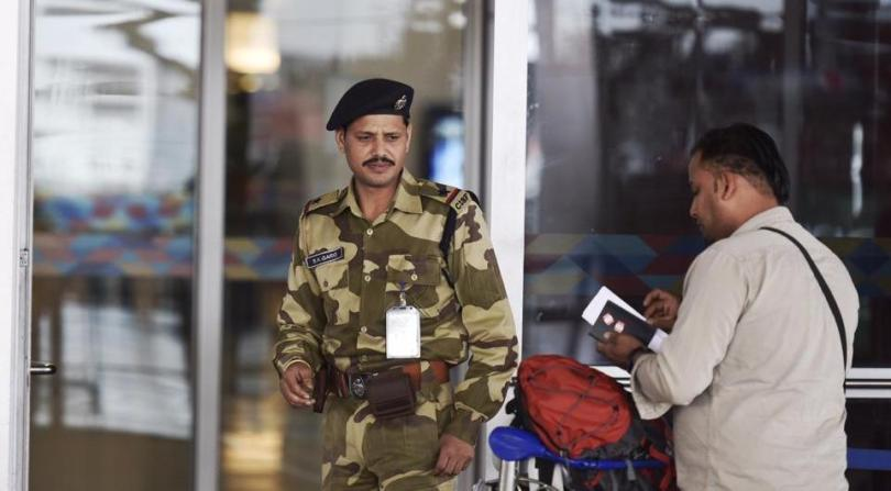 Image result for cisf at airport passport checking