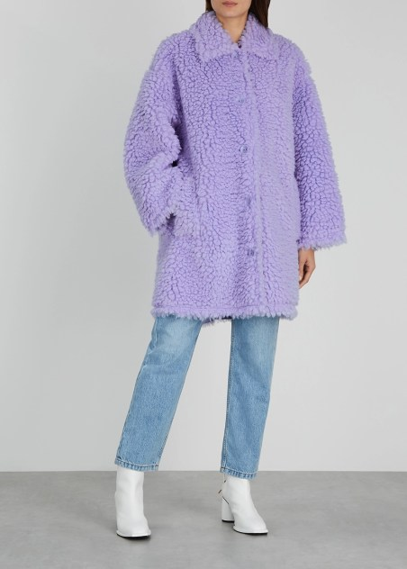 Jacey lilac faux shearling coat - Stand Studio