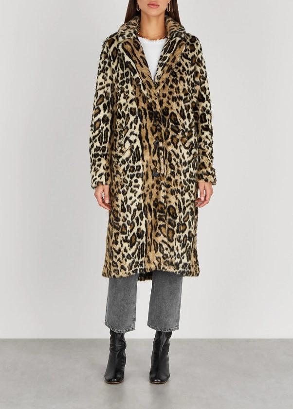 Chloe leopard-print faux fur coat - Free People