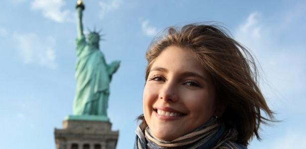 A atriz Tammy Di Calafiori em Nova York (fevereiro/2011)