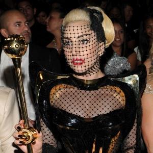 Lady Gaga durante o Grammy, em Los Angeles (12/2/12)