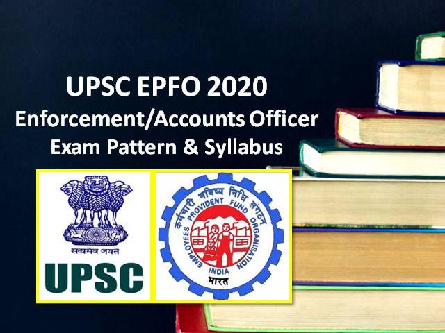 UPSC EPFO Enforcement Officer Syllabus 2020