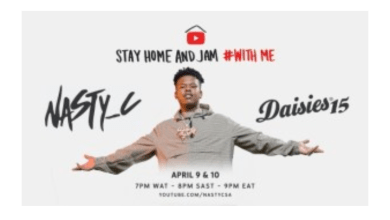 Photo of Nasty C – StayHome & Jam With Me and Rocking The Daisies