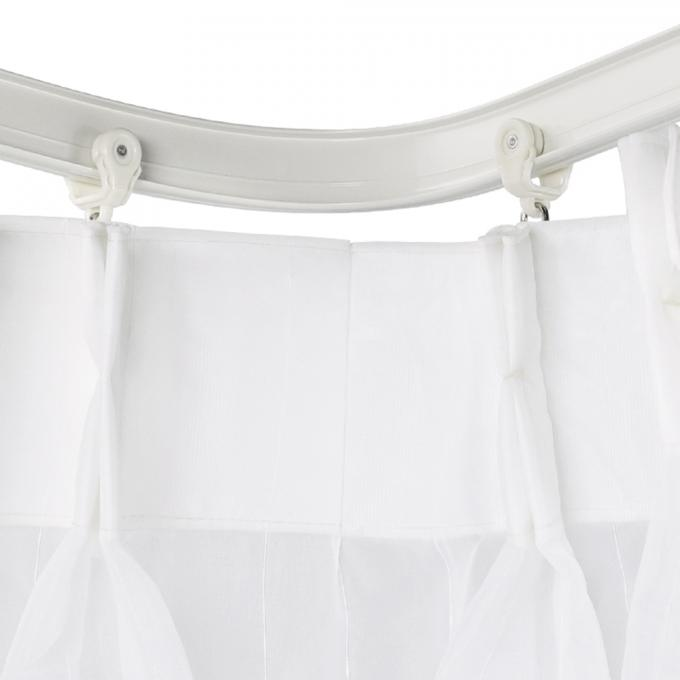 aluminum soft curved pole bay window rod bendable curtain track rail