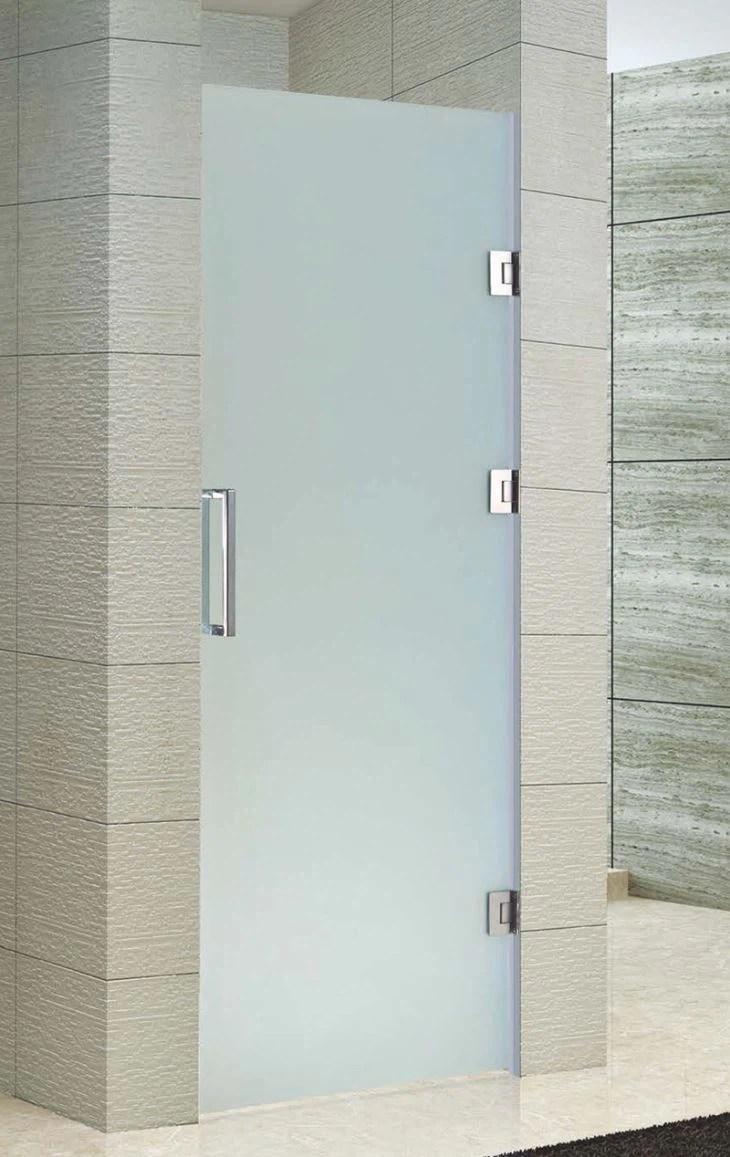 The Best Custom Single Frameless Pivot Glass Shower Doors